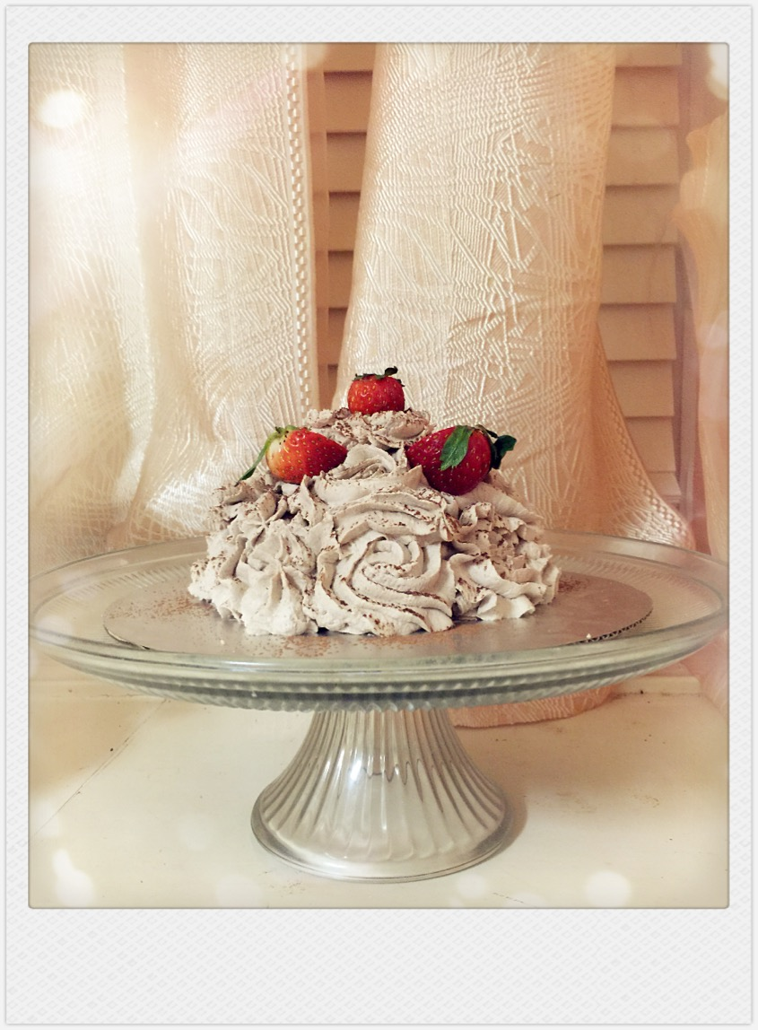 Chocolate Strawberry Chiffon Cake