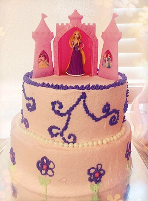 Custom Cake: Princess (Rapunzel)