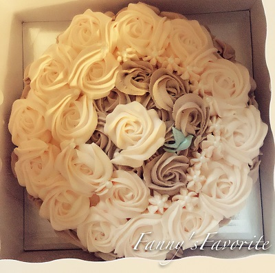Custom Cake: Two Color Rose (Eggless)