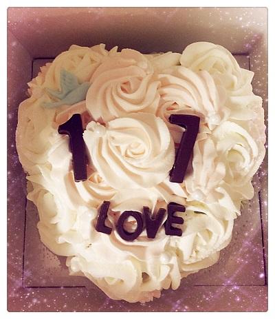 Custom Cake: Rose From My Bottom Of Heart