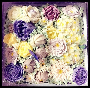 Custom Cake: Flower Basket (Buttercream)
