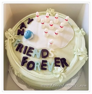 Custom Cake: Bowling Friend