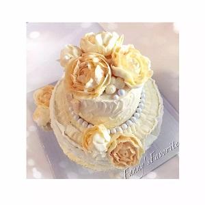 Custom Cake: Flower of the Golden Age