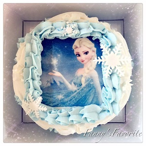 Custom Cake: Elsa From Frozen