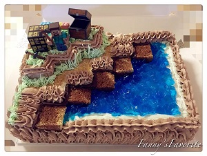 Custom Cake: MineCraft