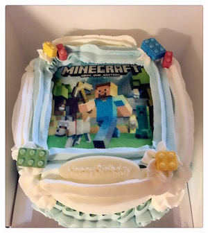 Custom Cake: Minecraft (2)