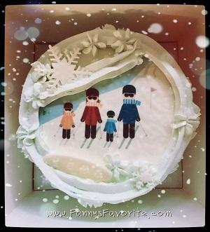 Custom Cake: Ski Family
