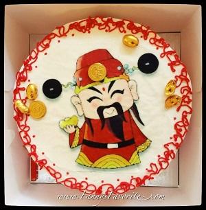 Custom Cake: God of Wealth (Cai Shen)