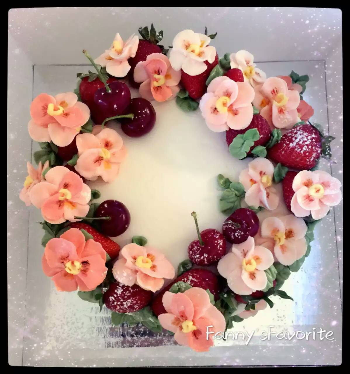 Custom Cake  Best Summer Mix  Flower And Fruit   U2013 Fanny U2019s